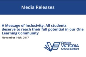 School District 61 Media Release