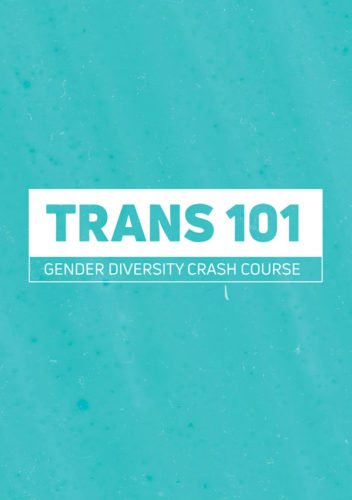 Cover page for the Trans 101 PDF: Gender diversity crash course.