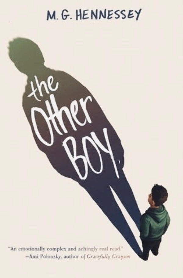 Book Cover - a trans boy looking at his shadow.