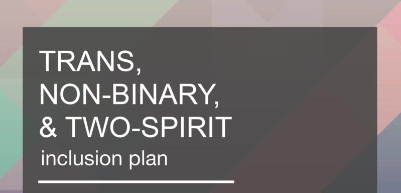 Trans, Non-Binary, and Two-Spirit Inclusion Plan (Session 2 of 2)