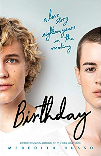 Book Cover - two teens one with short blonde hair, one with shaved brown hair