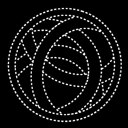 Logo white outlines.